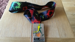 The first medal (what it's all about). Dingle marathon 2014.