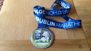 Dublin Marathon 2014 medal.