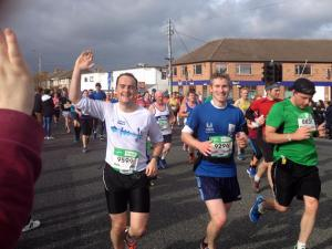 Dublin marathon with friend and Ironman Conor Kelly.