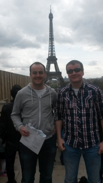 Me and my brother before the Paris marathon.